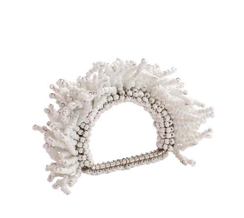 Kim Seybert Carnival White Napkin Ring, Set of 4