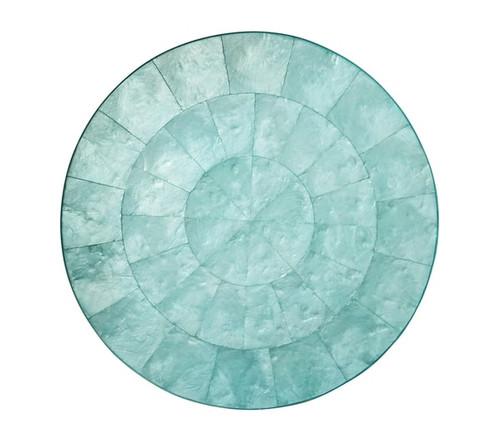 Kim Seybert Round Capiz Ocean Placemat