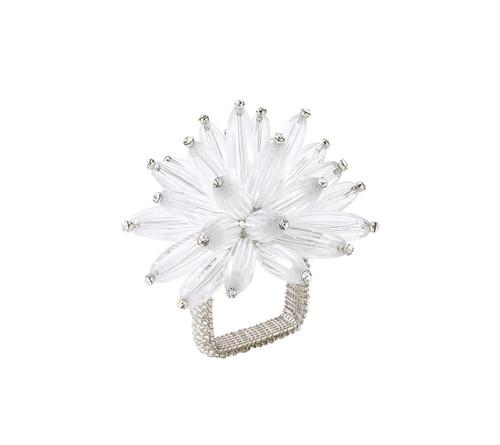 Kim Seybert Constellation Silver/Crystal Napkin Ring, Set of 4