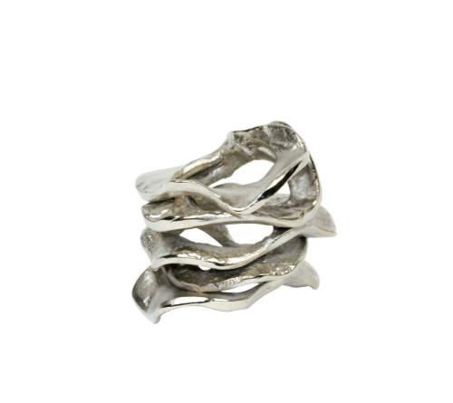 Kim Seybert Flux Silver Napkin Ring