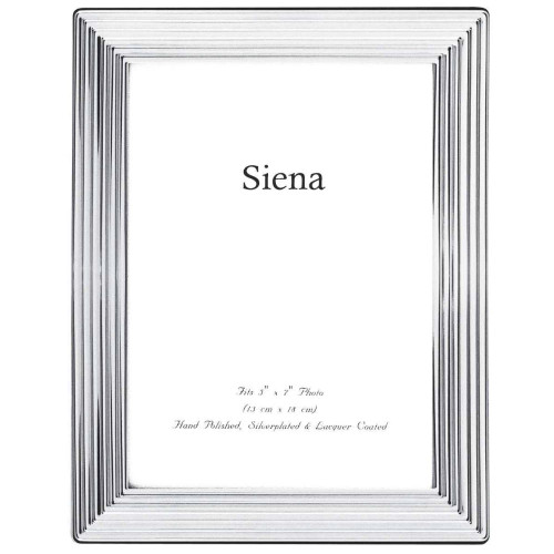 Siena Ridged Silverplated Frame