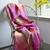 Avoca Pink & Yellow Lotus Mohair Throw