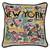 Catstudio New York City Hand-Embroidered Pillow