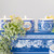 Portus Cale Gold & Blue Tea Light Candle Set