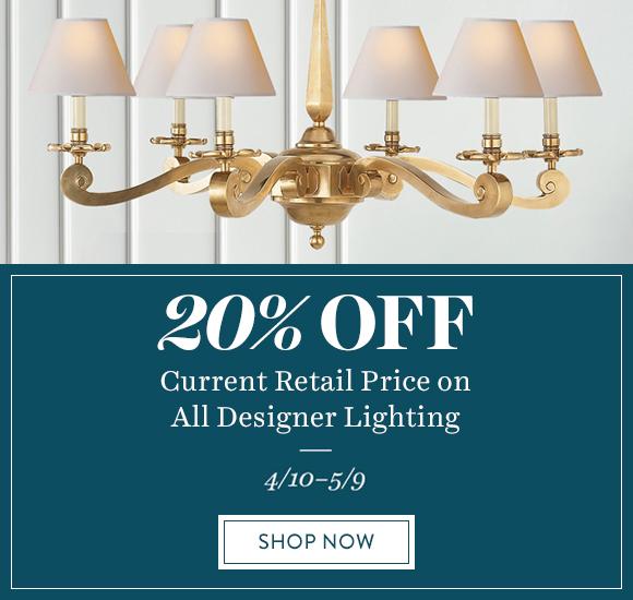 20% Off All Designer Lighting
