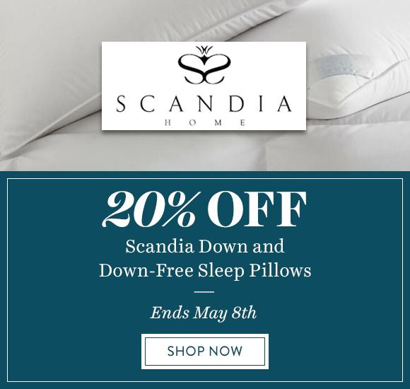20% Off Scandia Down & Down-Free Sleep Pillows