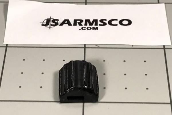 Large press on safety lever enlarger