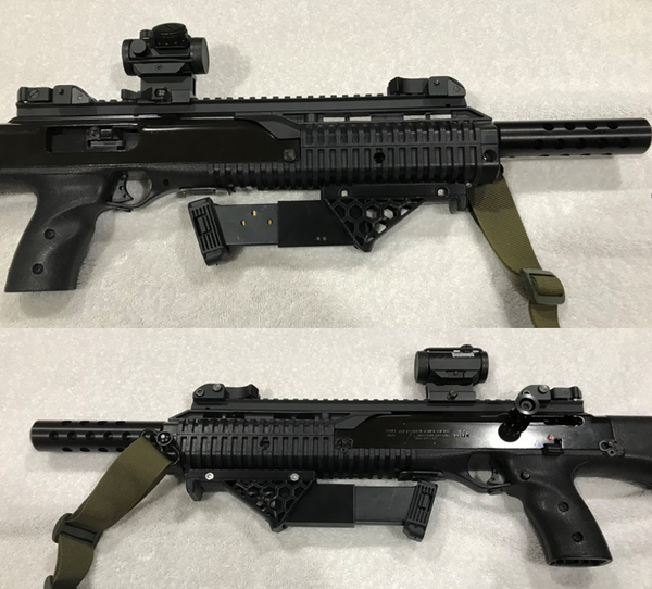 40,45,10mm TS Hex angled foregrip with mag storage
