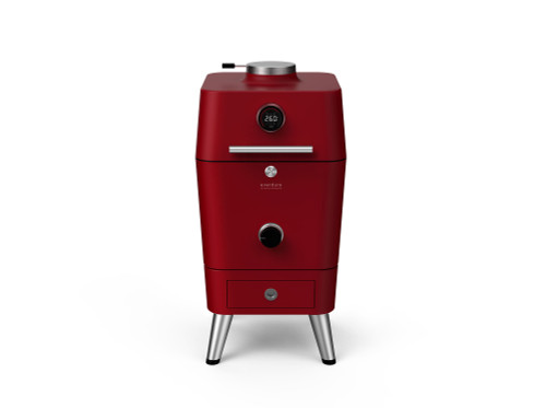 Everdure 4K Charcoal Grill w/ Electronic Ignition - Red