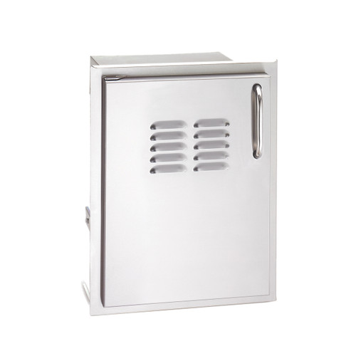 """AOG 20"""" X 14"""" Stainless Steel Single Access Doors w/Tank Tray & Louvers"""