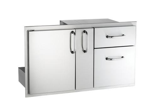 """AOG 18"""" X 36"""" Door w/Double Drawer & Platter Storage"""