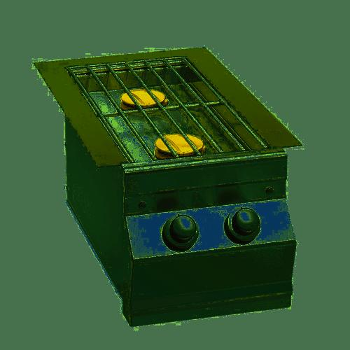 Fire Magic  Double Side burner - Drop in w/hinged lid