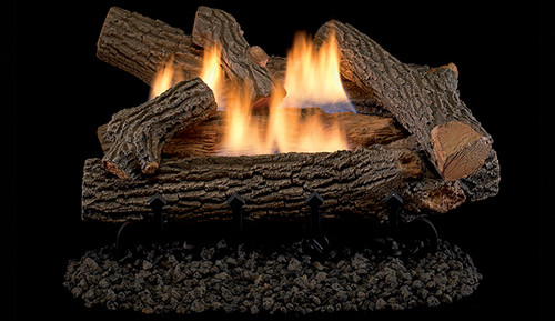 """Superior Double-Flame 18"""" Crescent Hill Vent Free Log Set"""