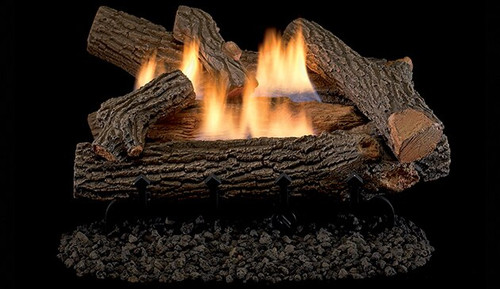 """Superior Double-Flame 24"""" Crescent Hill Vent Free Log Set"""
