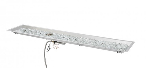 """Outdoor Great Room 12"""" X 64"""" Linear Stainless Steel Crystal Fire® Plus Gas Burner"""