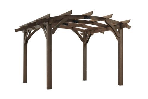 Outdoor Great Room 12' X 12' Mocha Sonoma Wood Pergola Kit