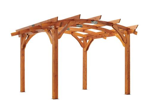 Outdoor Great Room 12' X 12' Redwood Sonoma Wood Pergola Kit
