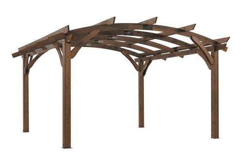 Outdoor Great Room 16' X 16' Mocha Sonoma Wood Pergola Kit