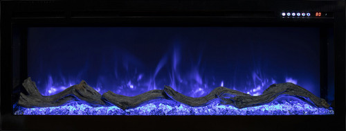 """Modern Flames 74"""" Spectrum Recessed Electric Fireplace"""