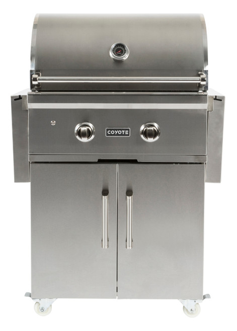 """Coyote 28"""" Grill on Cart with Infinity Burners; Natural Gas"""