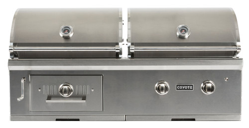 """Coyote 50"""" Hybrid Gas & Charcoal Grill; LP Gas"""