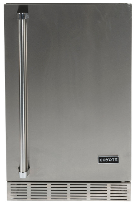 """Coyote 21"""" Built-in Outdoor Refrigerator; Hinge on Right Side"""