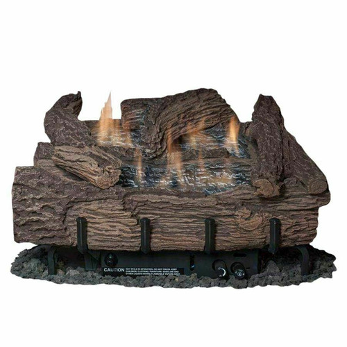 "Everwarm Palmetto Oak 24"" Logset w/ Vent Free Burner, Manual Valve"