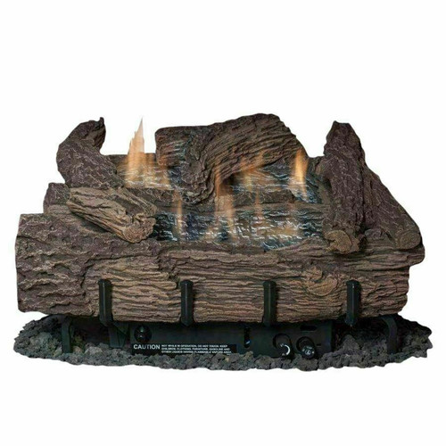 "Everwarm Palmetto Oak 30"" Logset w/ Vent Free Burner, Millivolt Valve"