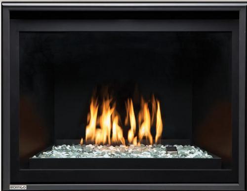 """Montigo Divine 34"""" w/ Linear Burner Direct Vent Gas Fireplace"""