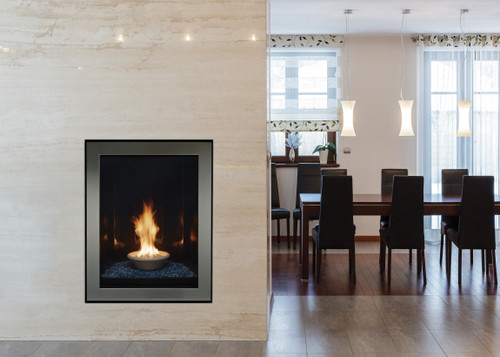 """American Hearth Canvas Portrait-Style 27"""" Contemporary Gas Fireplace"""