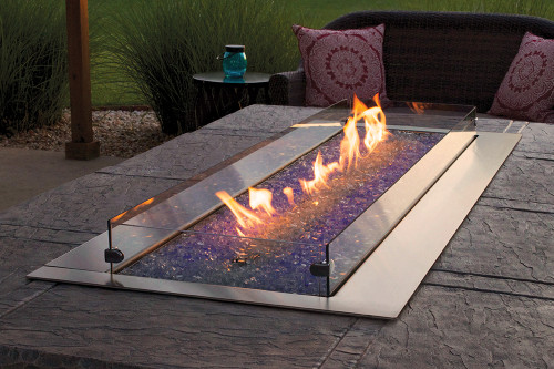 """American Hearth Coral Rose Coastal 48"""" Linear Outdoor Firepit"""