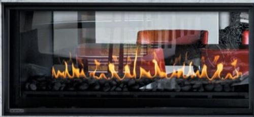 """Montigo Phenom 52"""" IPI See-Through Direct Vent Gas Fireplace"""