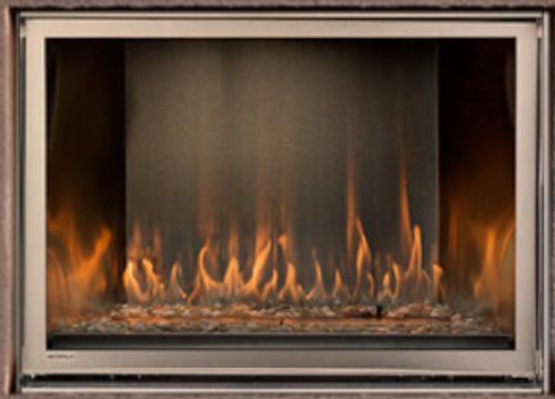 "Montigo Divine 38"" Linear Standing Pilot  Ventless Outdoor Fireplace"