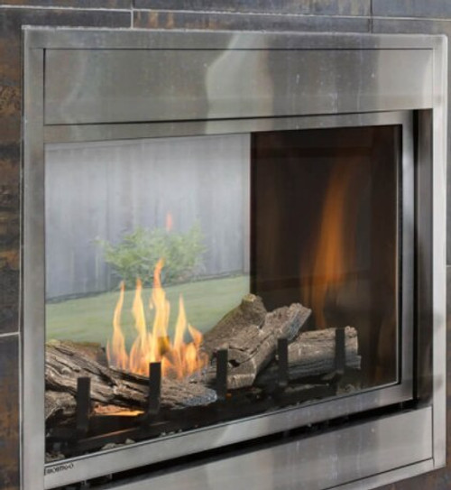"Montigo Divine 38"" See-Through Ventless Outdoor Fireplace"