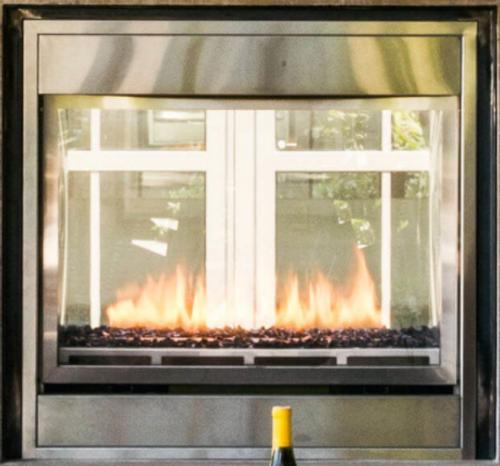 "Montigo Divine 38"" S.P Linear See-Through Ventless Outdoor Fireplace"