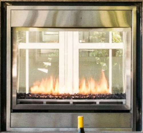 "Montigo Divine 38"" Linear See-Through Ventless Outdoor Fireplace"