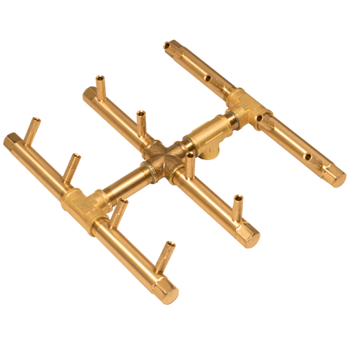 Warming Trends Square Tree-Style Crossfire Brass Burner - CFBST120