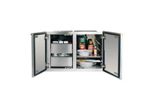 """Summerset 36"""" 2-Drawer Dry Storage Pantry & Enclosed Cabinet Combo"""