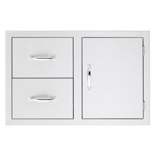 "Summerset 33"" 2-Drawer & Access Door Combo Masonry Frame Return"