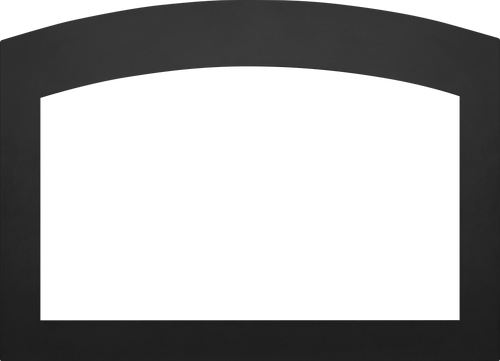 Small Arched 4-Sided Faceplate (for use with 3-Sided Backerplate), Black for Oakville™ 3 Series