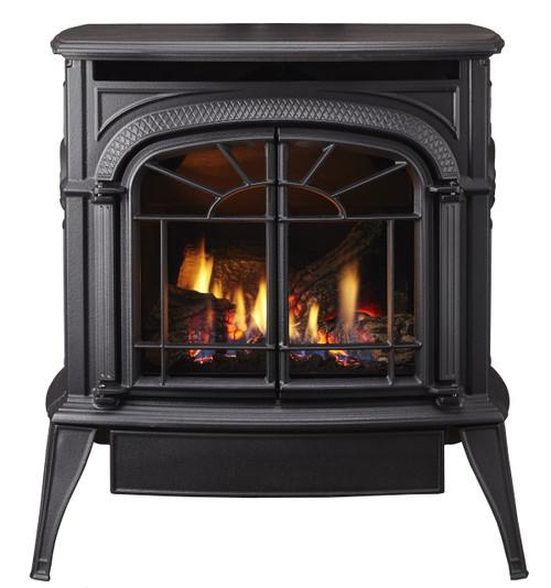 Vermont Casting Intrepid DV Gas Stove,  Classic Black