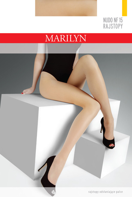 Open toe tights NUDO NF Beige Product packaging