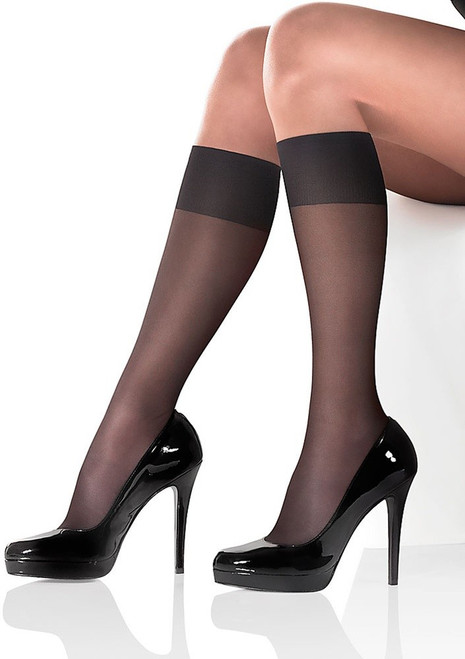 Graduated compression knee highs PIANO RELAX by MARILYN
