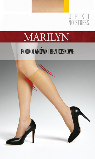 Fine sheer knee highs UFKI NO STRESS by MARILYN