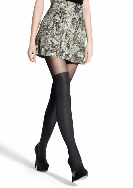 Tights imitating over-knees ZAZU CLASSIC by MARILYN Nero
