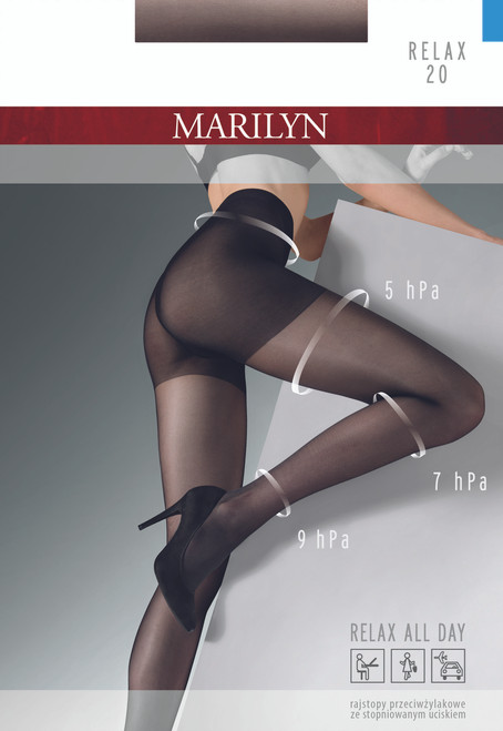 Relaxing tights with graduated compression RELAX 20 product packaging