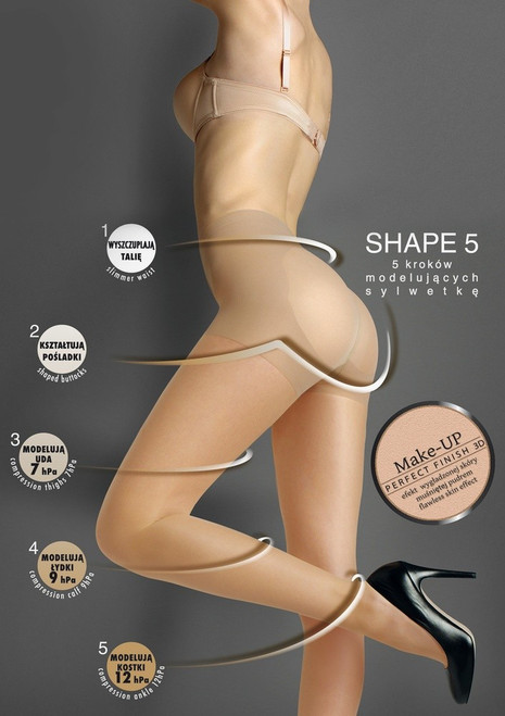 Shaping medical high waist sheer tights  SHAPE 5 by MARILYN
