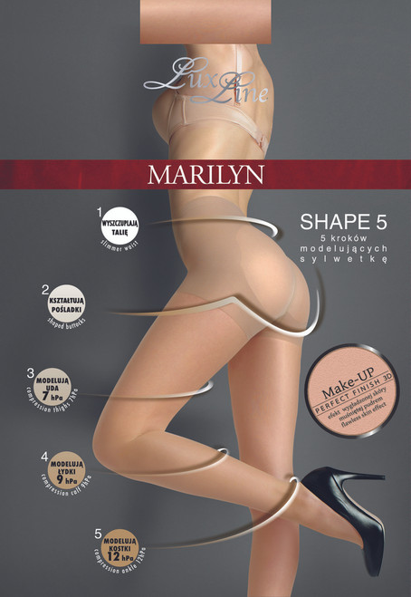 Shaping medical high waist sheer pantyhose SHAPE 5 by MARILYN product pack