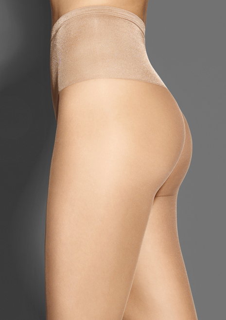 Ultra silky high waist sheer tights SILK 15 comfortable waistband