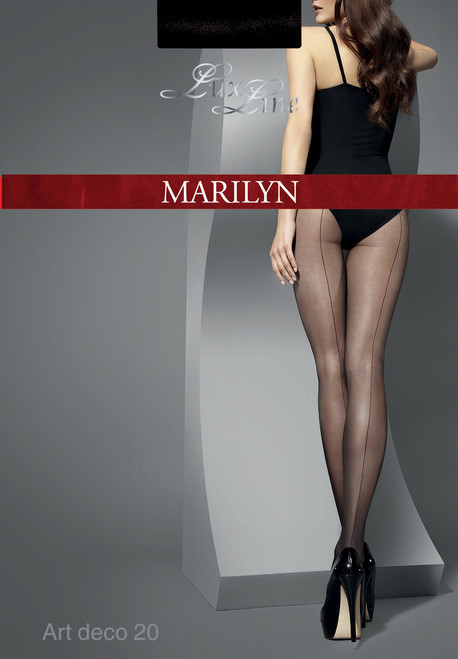 ART DECO 20 LUX LINE from MARILYN seamed tights black packaging